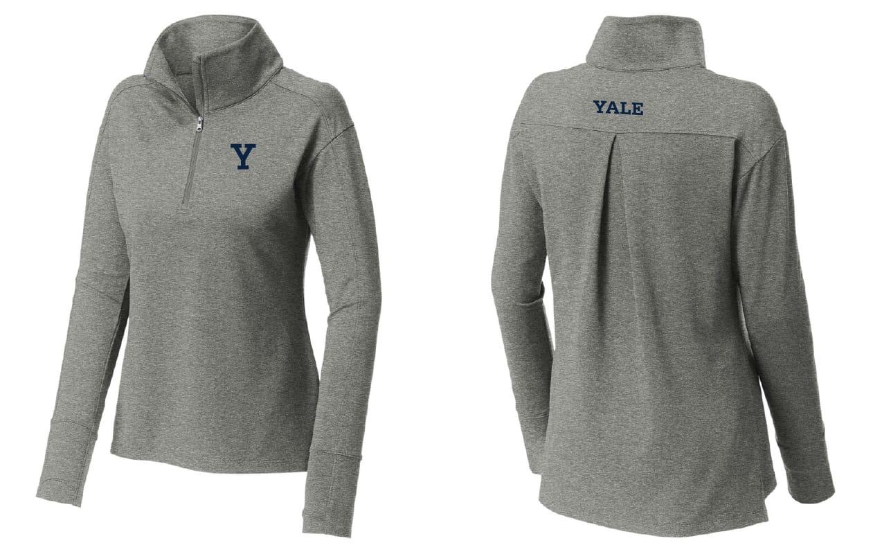 Women's Quarter Zip Pullover (Gray)